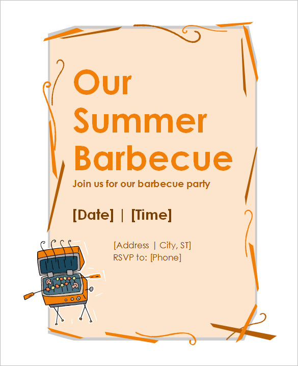 BBQ Invitation Wording