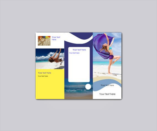 Beach Club Brochure Template