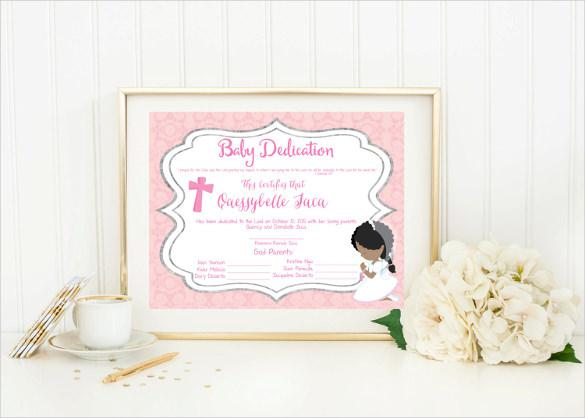 Download Baby Dedication Certificate Template For Free Tidytemplates