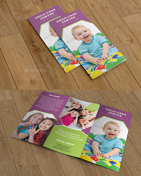 Beautiful Brochure Template for Child Care - $8