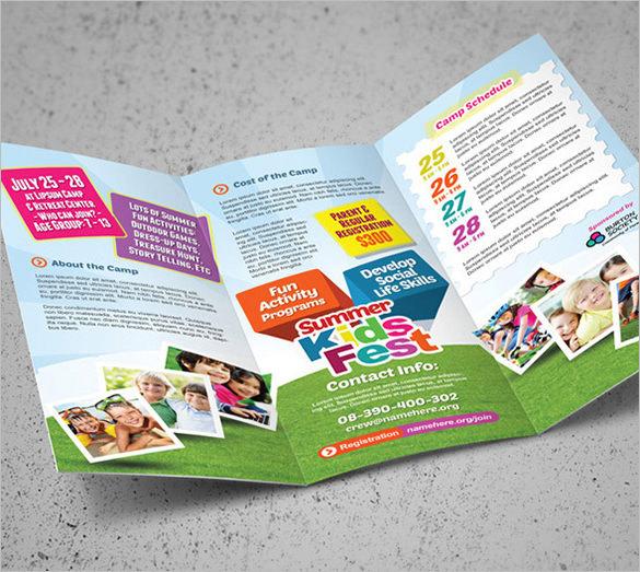 Beautiful Camp Brochure Template