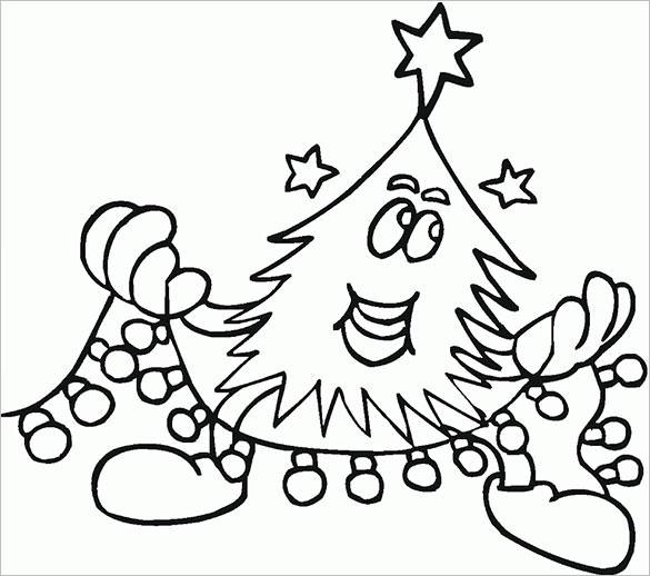 Beautiful Christmas Coloring Pages Download
