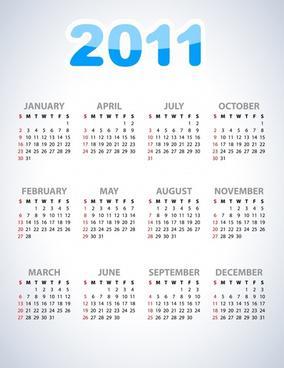 Beautiful Colorful Calendar Template Design Download