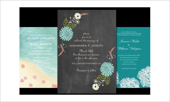 Beautiful Email Wedding Invitation Template Desgin