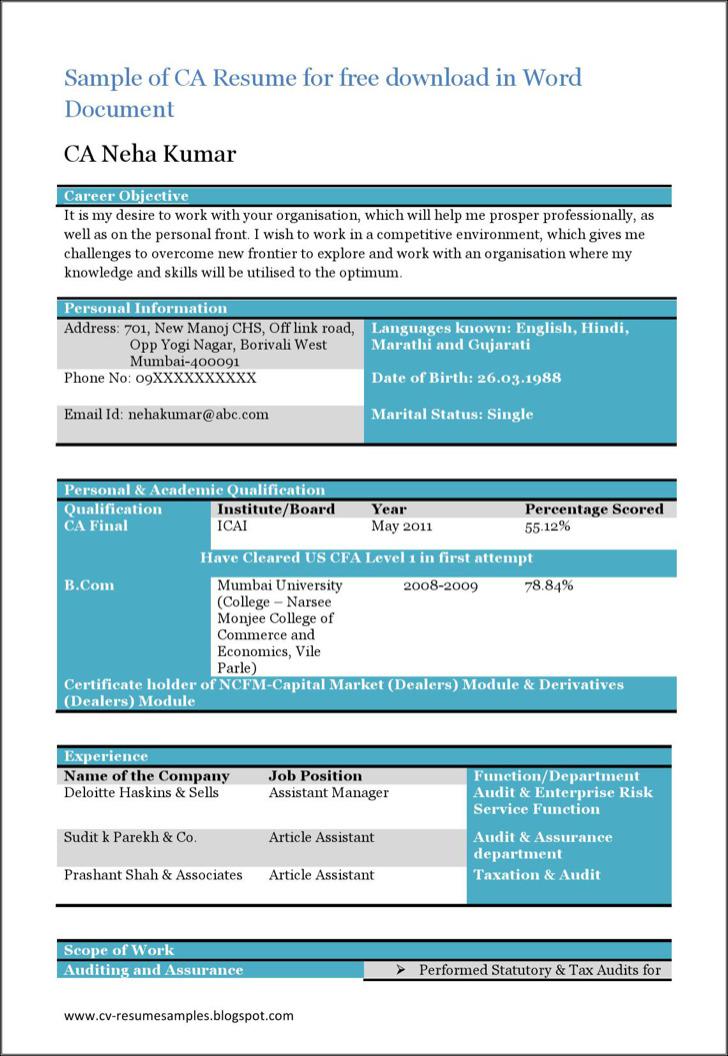 Beautiful Resume For Ca Sample 2
