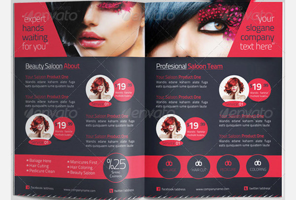 Beauty Saloon Brochure Template