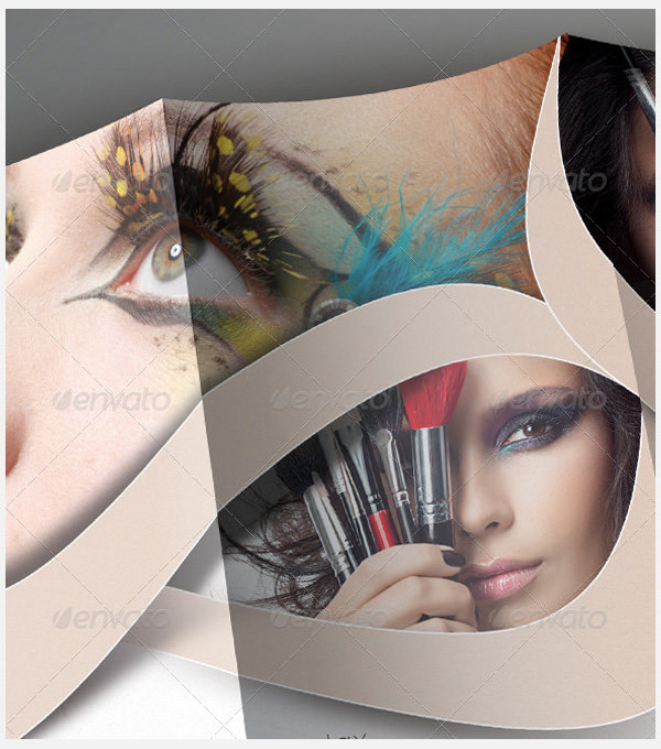 Beauty Saloon Trifold Brochure Template