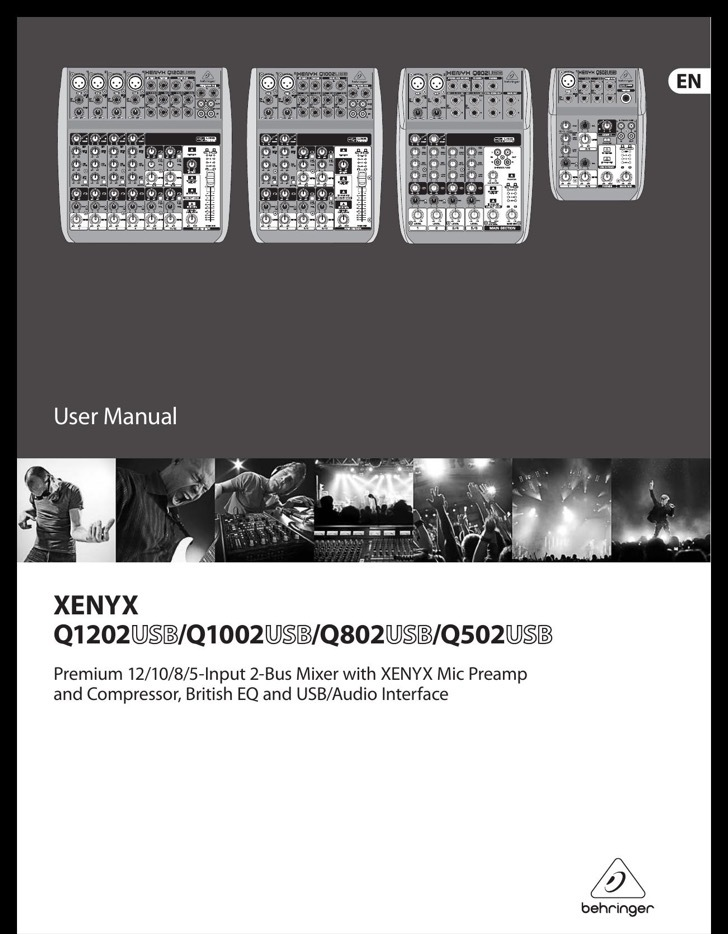 Behringer Owners Manual Sample