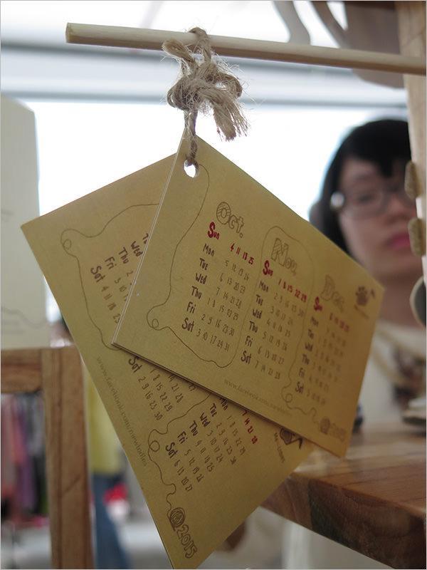 Berry Bear Pocket Calendar Template
