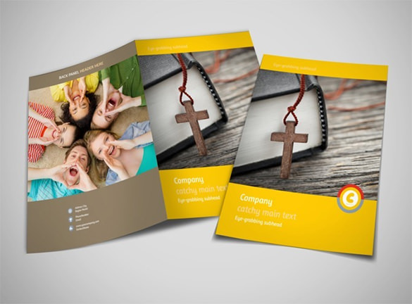 Best Church Ministry & Youth Group Brochure Template
