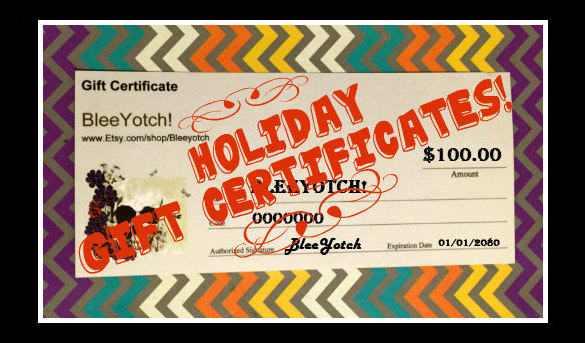Best Holiday Gift Certificates Template