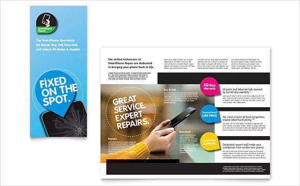 Best Smartphone Repair Brochure Word Template