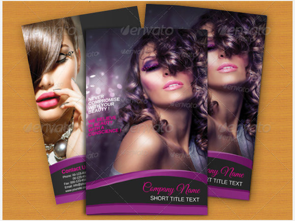 Bi-fold Brochure Beauty Parlour