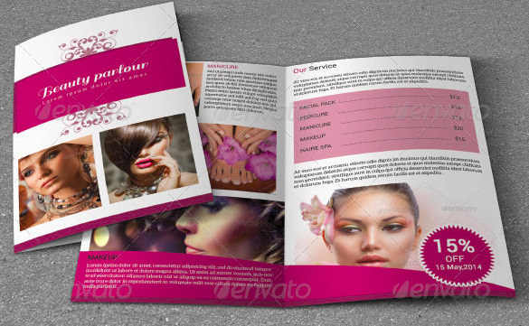 Bifold Beauty Saloon Brochure