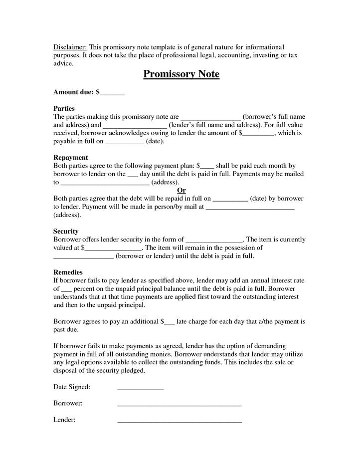 Bill of Sale and Promissory Note for Car Word Doc Download