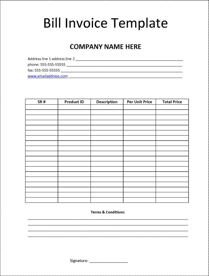 Billing Invoice Template 2