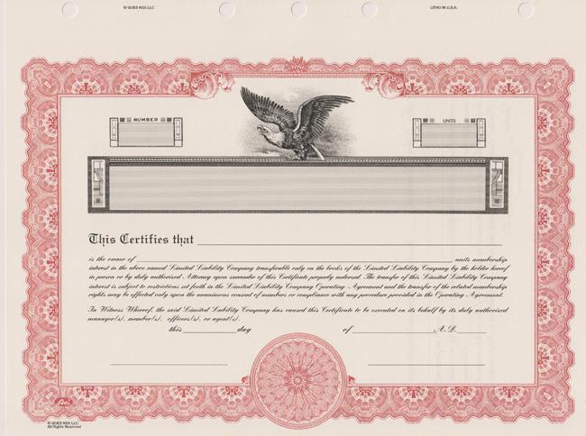 Bindertek Template Corporate Stock Certificate PDF Format
