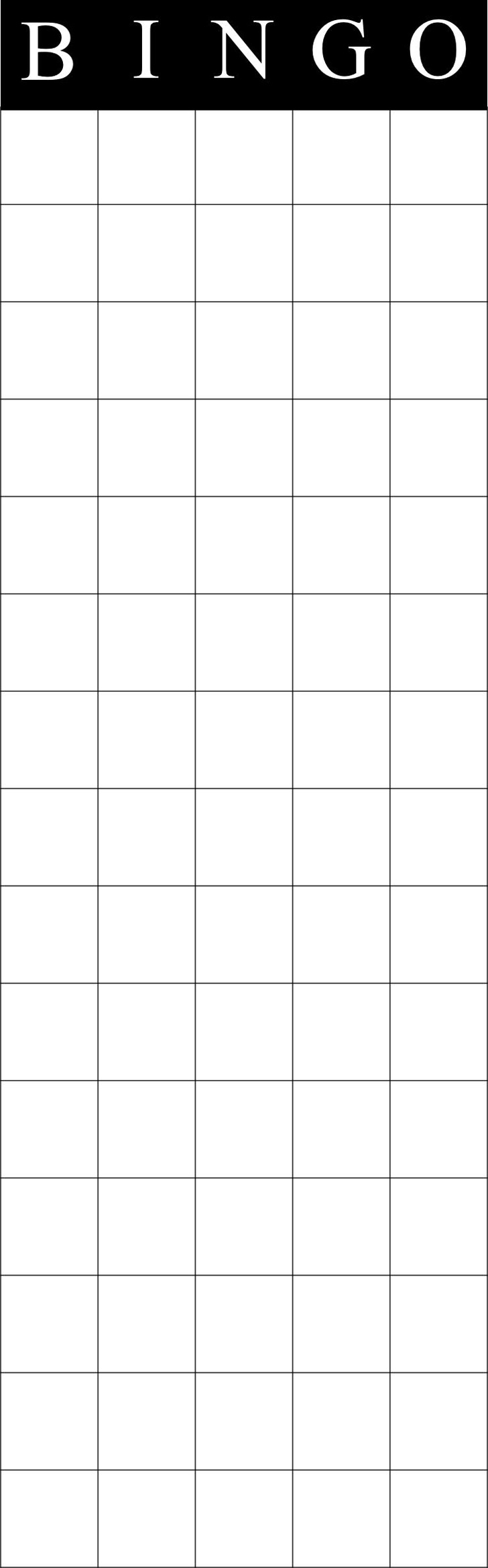 Bingo Shutter Cards Template