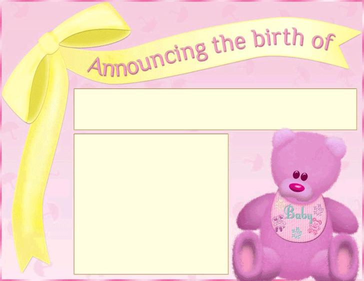 Birth Announcement Template 1