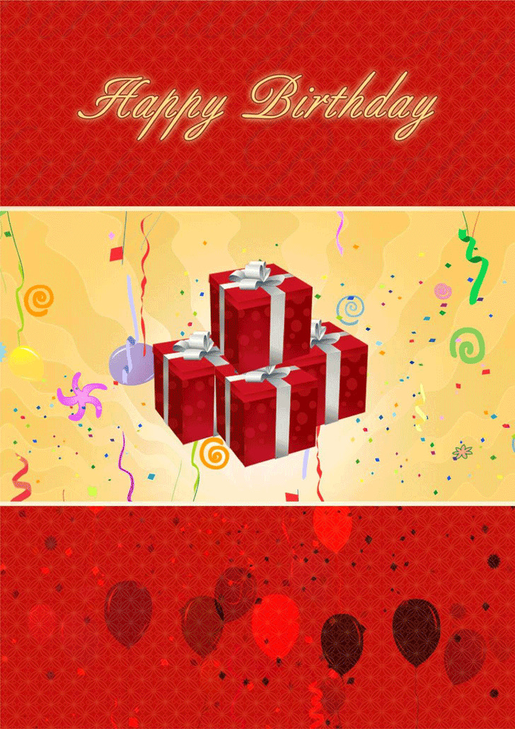 Birthday Card Template 2