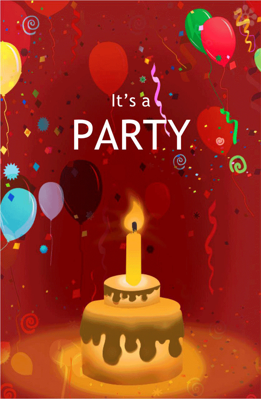 Birthday Invitation Template 1
