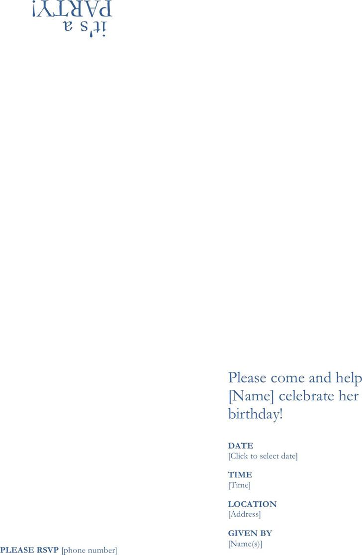 Birthday Invitation Template 3