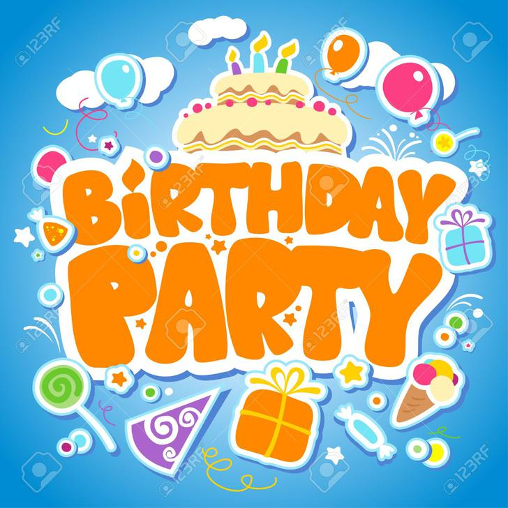 Birthday Seating Chart Vector EPS Format Download