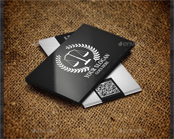 Black & White Business Card For Lawyers