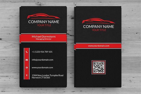 Black Automotive Business Card