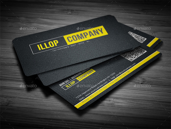 Black Business Card Premium Download