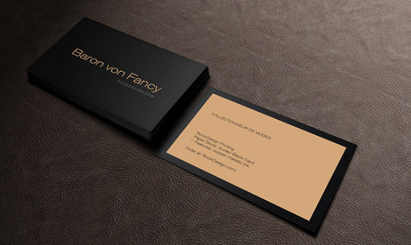 BLACK BUSINESS CARD TEMPLATE