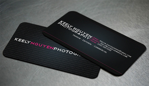 Black Business Cards Set