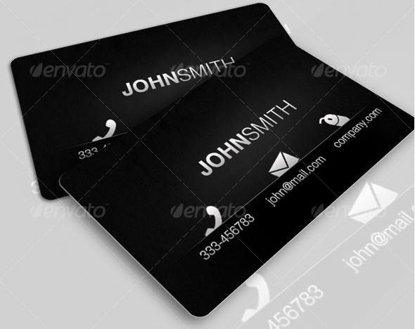 Black Modern Card
