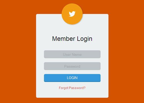 Black Skin HTML Login Form Template