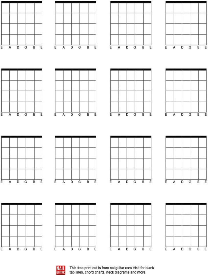 Download Blank Guitar Chord Charts For Free Tidytemplates