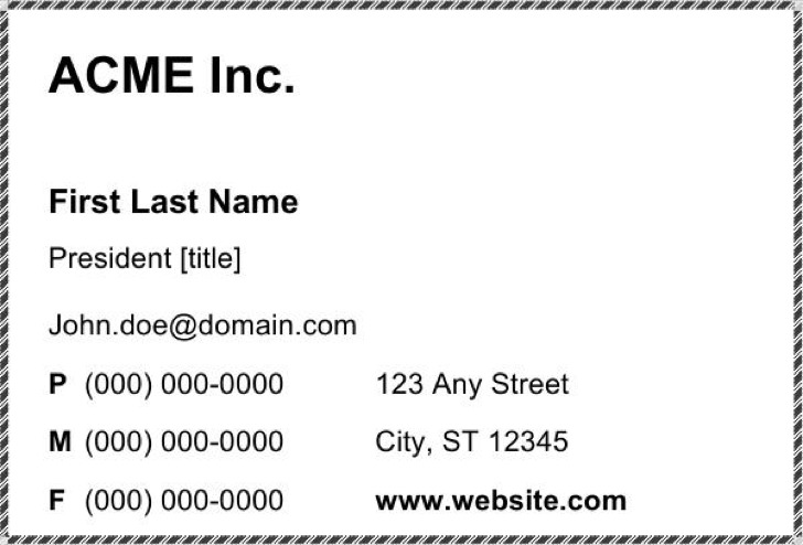 Blank Business Card 8