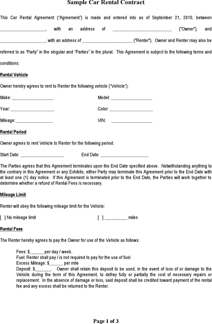 8 sample blank lease templates free download