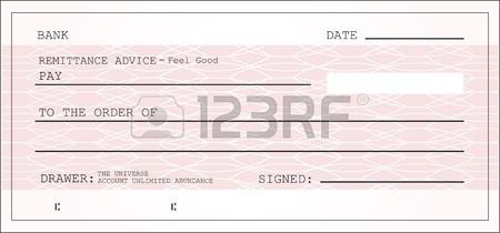 Blank Cheque Image