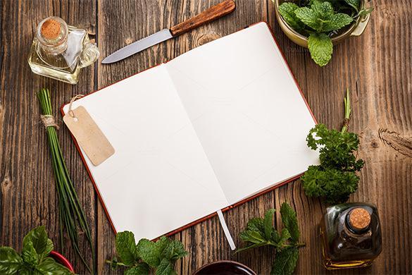 Blank Cookbook Template In Design