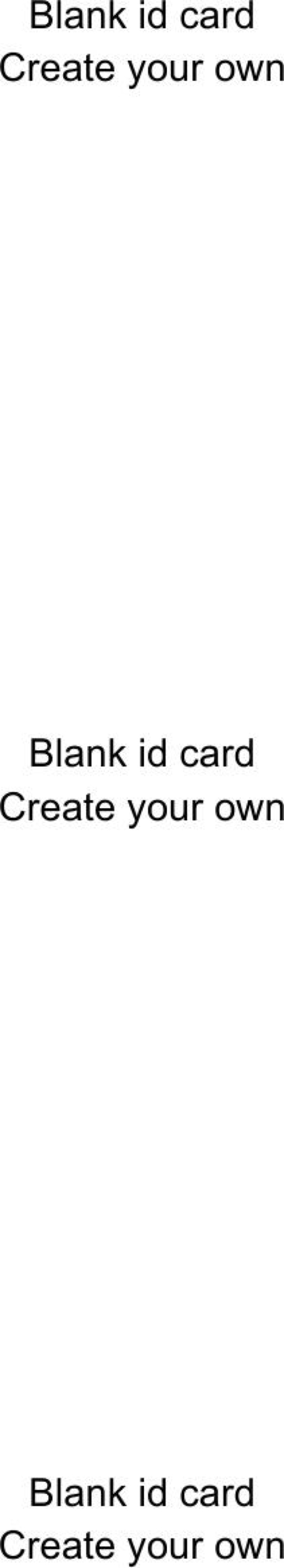 Blank Create Your Own Id Card