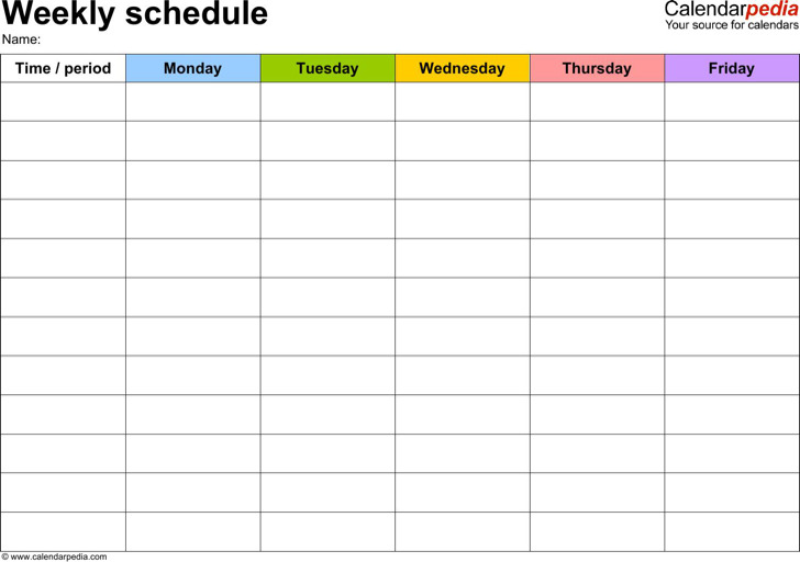 download daily work schedule template for free tidytemplates