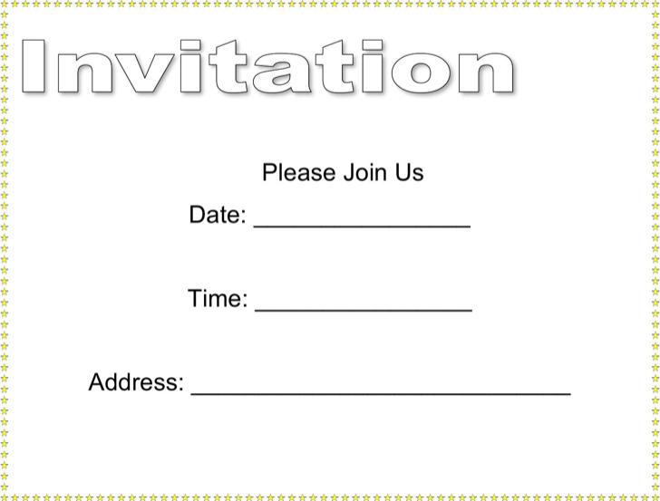 Blank Invitation Template Free