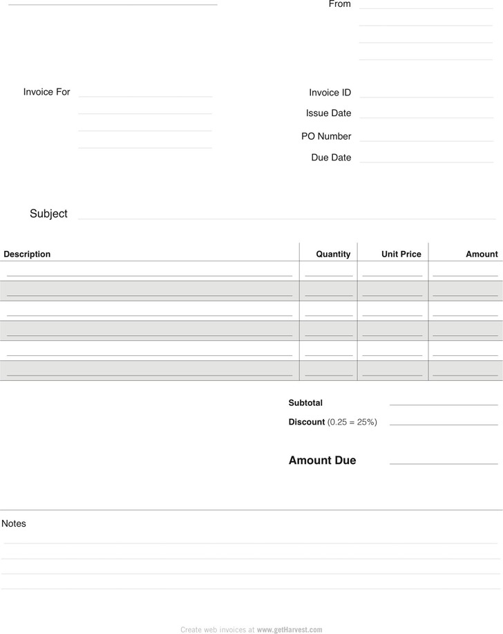4 Blank Invoice Template Free Download