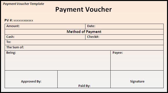 Blank Standard Voucher Pdf Format Free Template