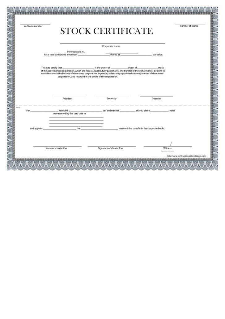 Download Share Stock Certificate Template For Free Tidytemplates