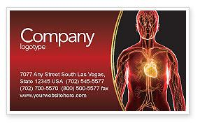 Blood Vascular System Business Card Template