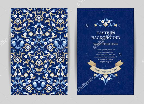 Blue Background Wedding Invitation Template For Download