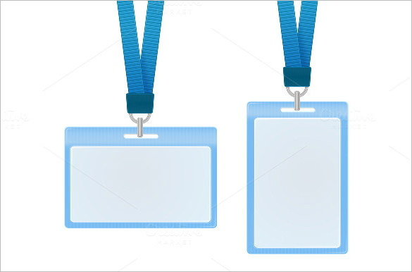 Blue ID Card Vector Illustration