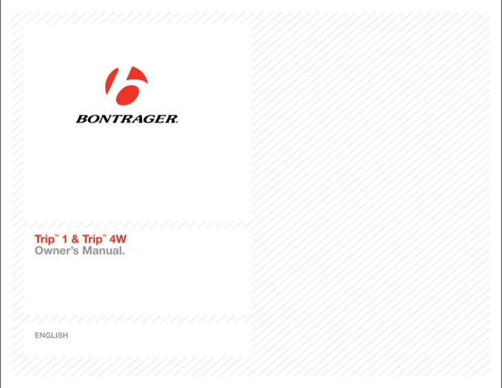 Bontrager User's Manual Sample