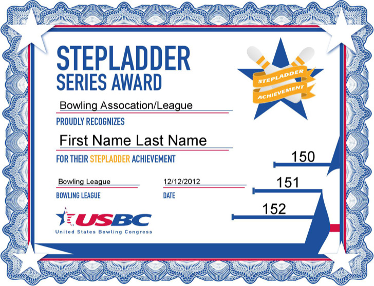 1  bowling certificate template free download